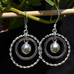 Zilveren oorbellen 012122