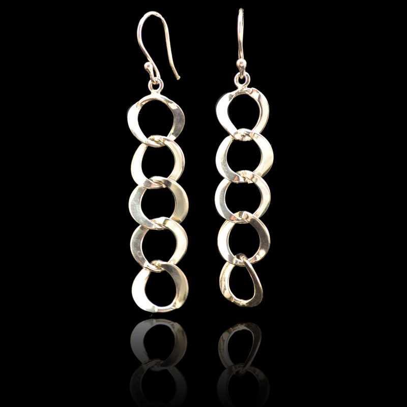 Zilveren oorbellen12120