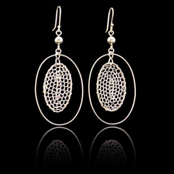Zilveren oorbellen 012135