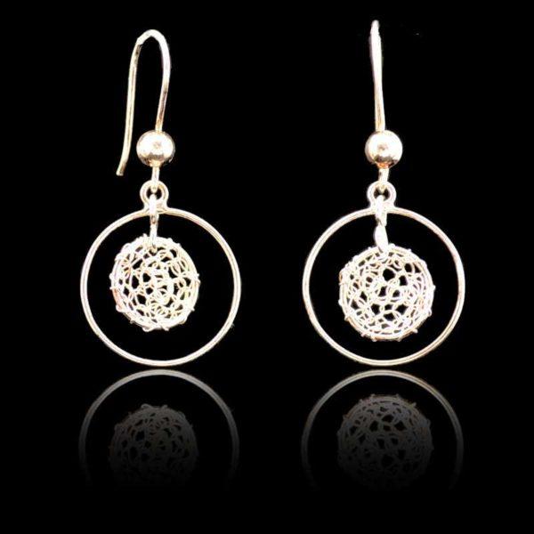 Zilveren ring oorbellen