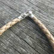 Beige leren armband 2