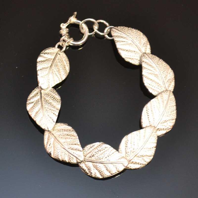 Zilveren armband Bladeren