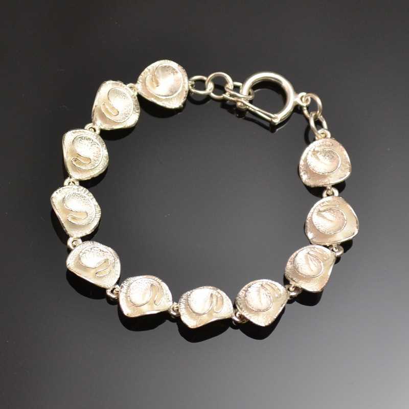Zilveren armband Rozen