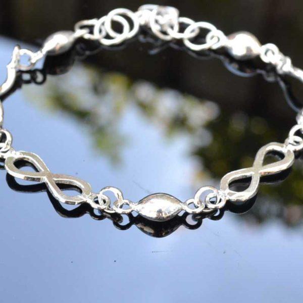 Zilveren armband Infinity