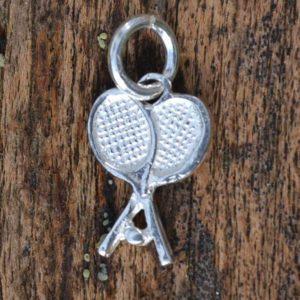 Zilveren bedel - hanger Tennisracket II