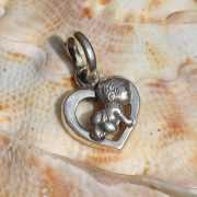 Zilveren hanger bedel Baby 2 3