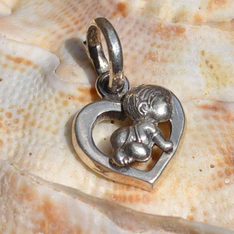 Zilveren hanger bedel Baby 2