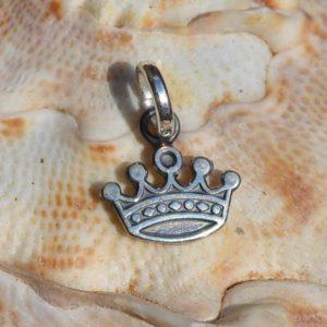 Zilveren hanger Kroon 2