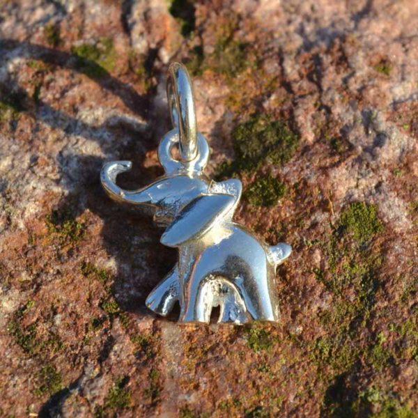 Zilveren bedel Olifant