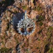 Zilveren bedel Levensboom