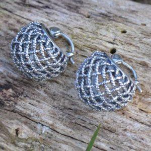 Zilveren creolen Moda