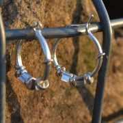 Zilveren creolen oorringen 1705 2