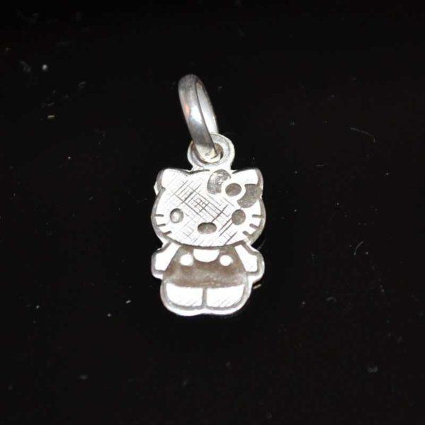 Zilveren hanger bedel Hello Kitty