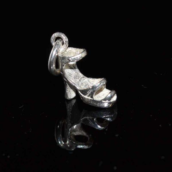 Zilveren bedel hanger Hoge Hak