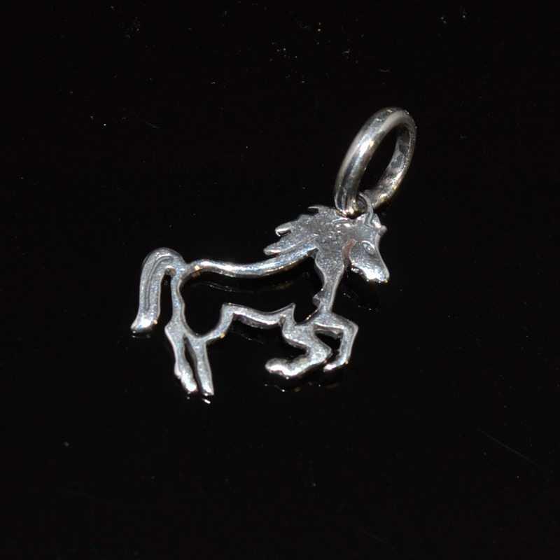 Zilveren hanger Paard I