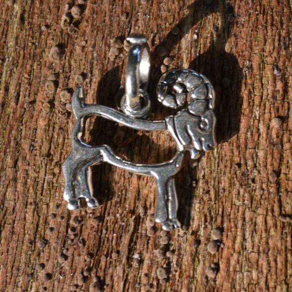 Zilveren hanger - bedel Steenbok