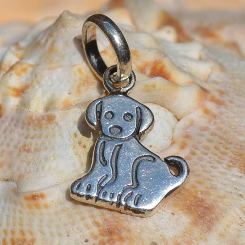 Zilveren hanger Hond
