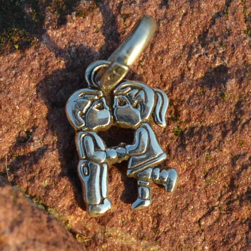 Zilveren bedel - hanger Liefde