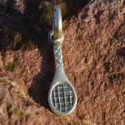 Zilveren bedel hanger Tennisracket 2