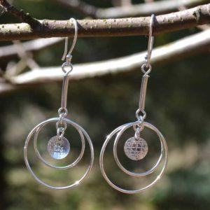 Zilveren oorbellen Tiny