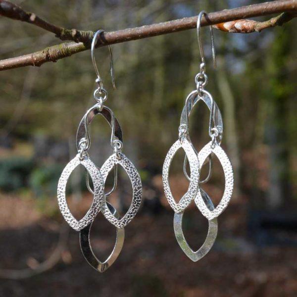 Zilveren oorbellen Vera