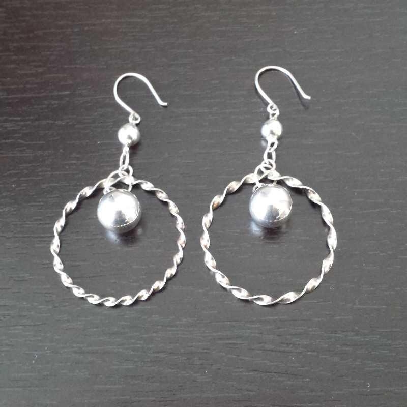 Zilveren oorbellen Glam