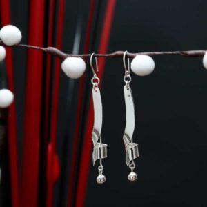 Zilveren oorbellen Daria
