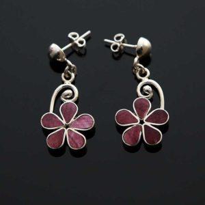 Zilveren oorbellen Lilas