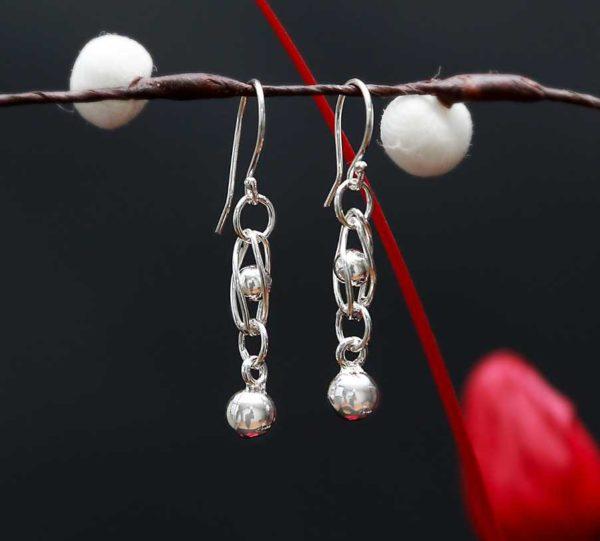 Zilveren oorbellen Ria