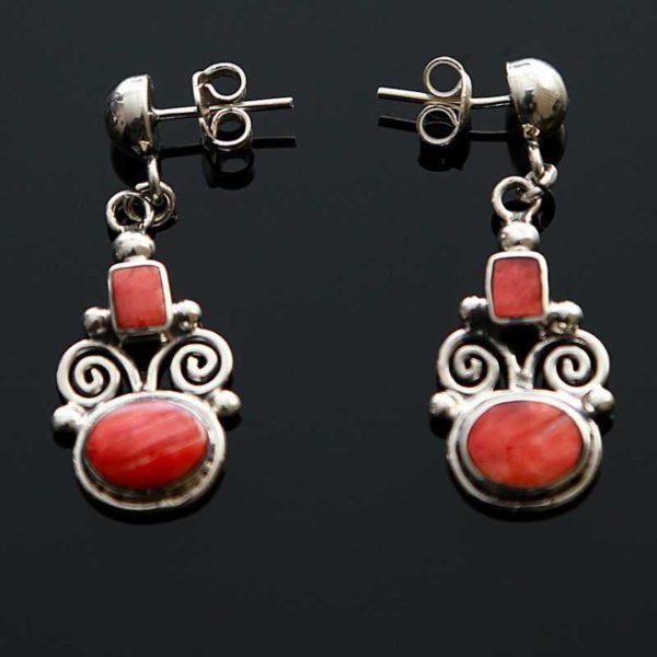 Zilveren oorbellen Inca