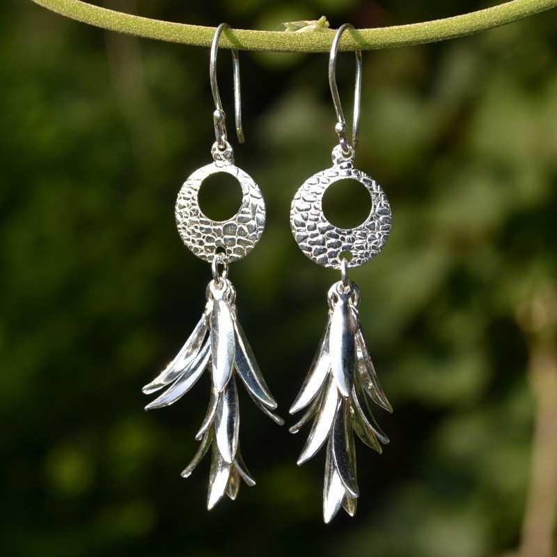 Zilveren oorbellen Dea
