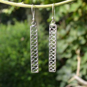 Zilveren oorbellen 12120