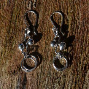 Zilveren oorbellen Paris