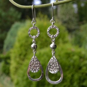 Zilveren oorbellen Donna