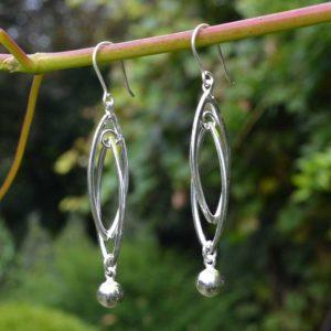 Zilveren oorbellen Amare