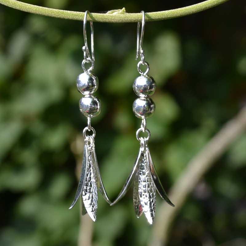 Zilveren oorbellen Yen