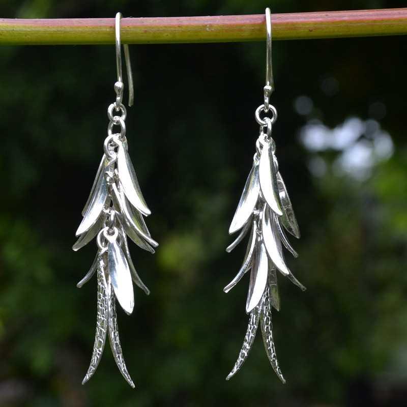 Zilveren oorbellen Fiesta