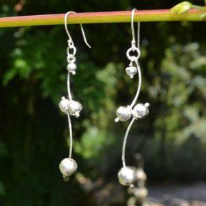 Zilveren oorbellen Gala