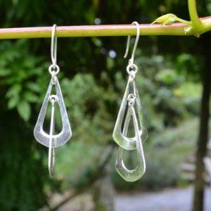 Zilveren oorbellen Anne
