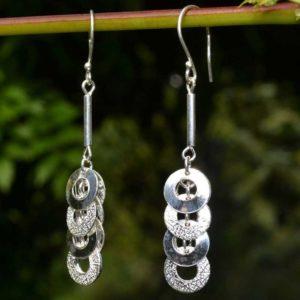 Zilveren oorbellen Rina