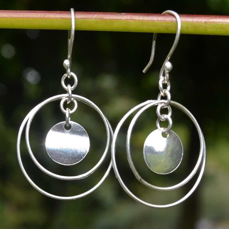 Zilveren oorbellen Dalia I