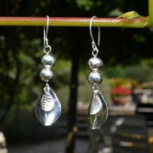 Zilveren oorbellen Aline
