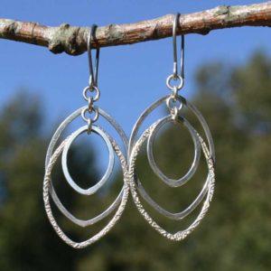 Zilveren oorbellen 20133