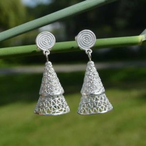 Zilveren oorbellen 012132