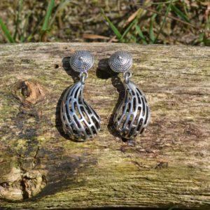 Zilveren oorbellen Carty