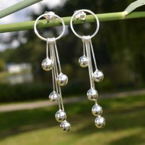 Zilveren oorbellen Alice