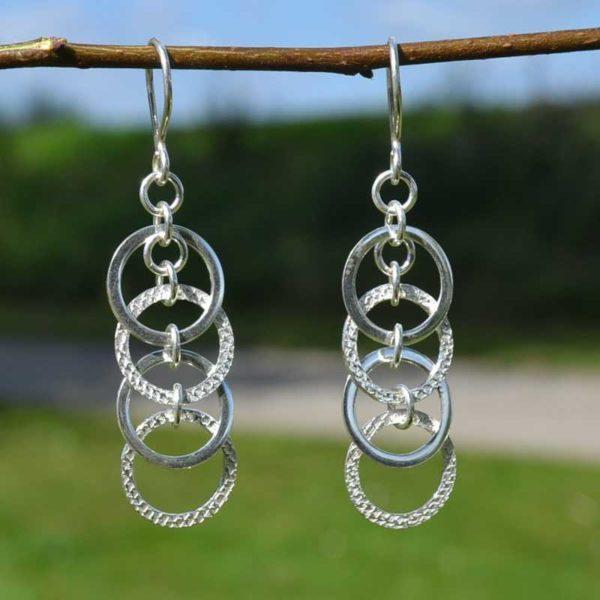 Zilveren oorbellen Gia