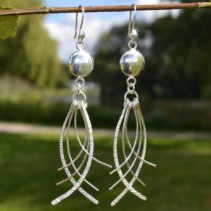 Zilveren oorbellen Lexa