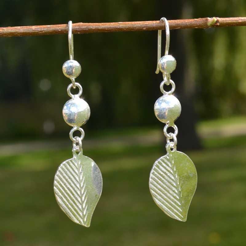 Zilveren oorbellen Abril