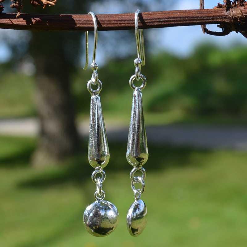 Zilveren oorbellen 012128